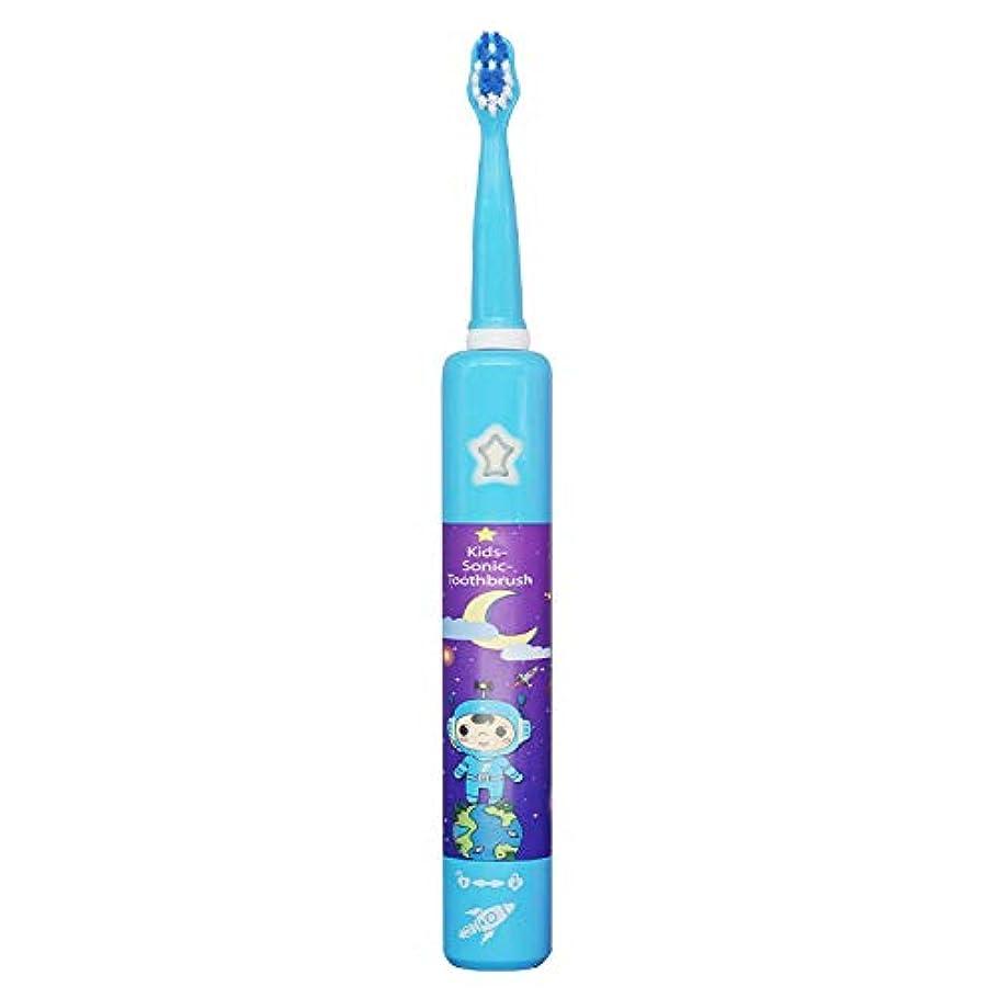 通訳意味する愛情2019新しい子供の電動歯ブラシ USB 電動子供の歯ブラシ 音楽キー 電動歯ブラシ 青