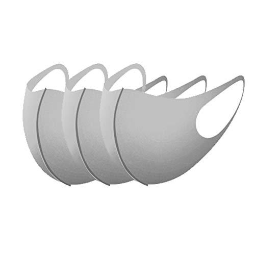 Máscara Redfiy Reutilizable Anti-Bacteriano y Transpirable Antipolvo able Máscara lavable Protección fría máscara tridimensional máscara protectora mitad de la cara del polvo anti máscara transpirable y c
