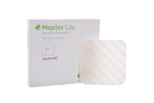 Mepilex ME281000 Border Lite Schaumverband, 4 cm breit, 5 cm lang, 10 Stück