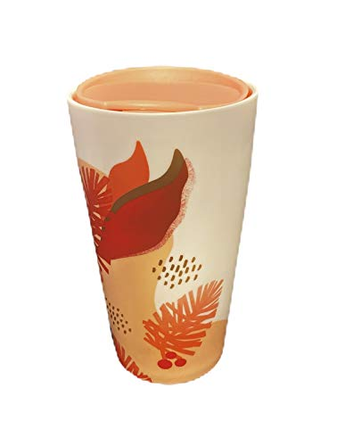 Starbucks 2019 Keramik-Becher mit Zapfen, doppelwandig, 340 ml, Rosa/Rot