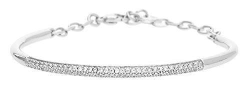 Joop! Damen-Armreif 925 Silber rhodiniert Zirkonia weiß 16 cm-JPBR90387A175