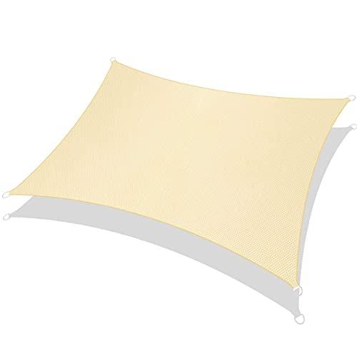 RATEL Toldo Vela de Sombra Rectángulo Arena 3 × 5 m, protección 95% UV y Transpirable Impermeable, para Jardín, Patio, Exteriores, Pergola Decking