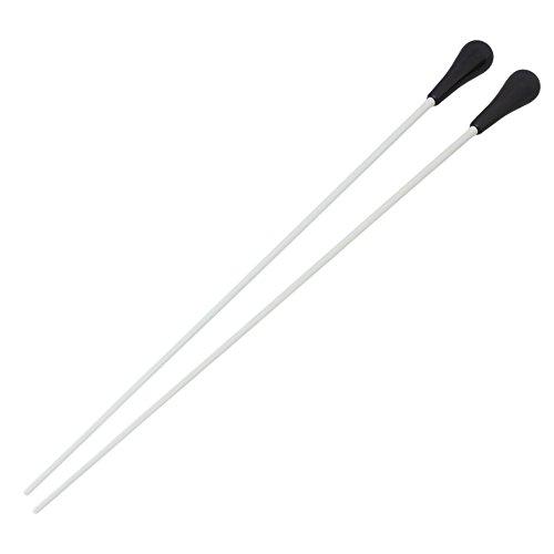 BQLZR Paar 1 38,1 cm Music Taktstock mit schwarzem Griff aus ABS