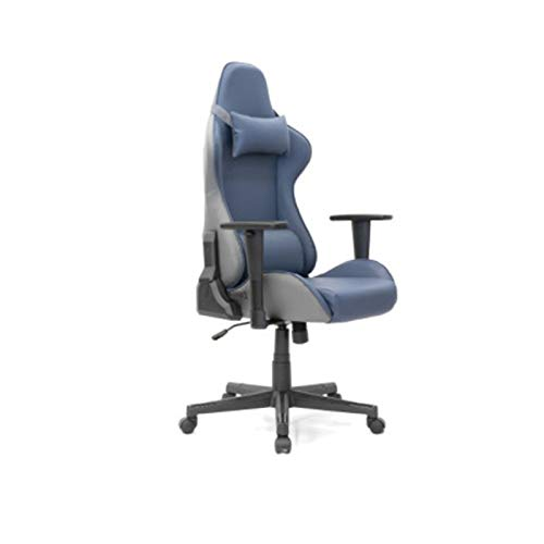 KOKOF - Silla ergonómica para videojuegos, estilo carrera, con respaldo alto más grande y silla para juegos, color azul
