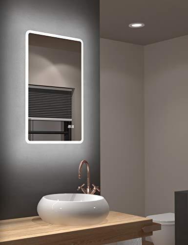Talos Sun LED badkamerspiegel met warmwit licht - lichtframe - 45x70 cm