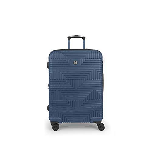 Gabol - Shock   Maleta de Viaje Mediana Dura de 46 x 68 x 30 cm con Capacidad para 85 L de Color Azul