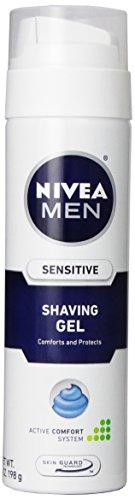 Nivea For Men Shaving Gel, Sensitive, 7 oz