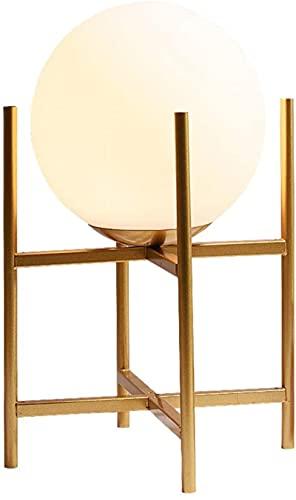 Lámpara de mesa de cristal de la luna de la luna de la luna de la luna de la luna de la luna de la luna de la luna de la luna del dormitorio nórdico