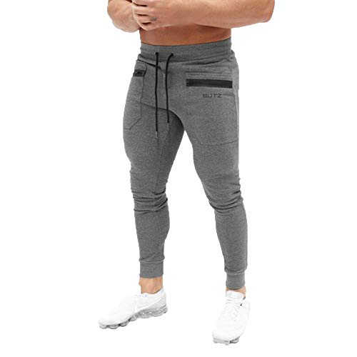 Best Buy! Sport pants,EOWEO Men Pure Color Printed Overalls Casual Pocket Sport Work Casual Trouser ...