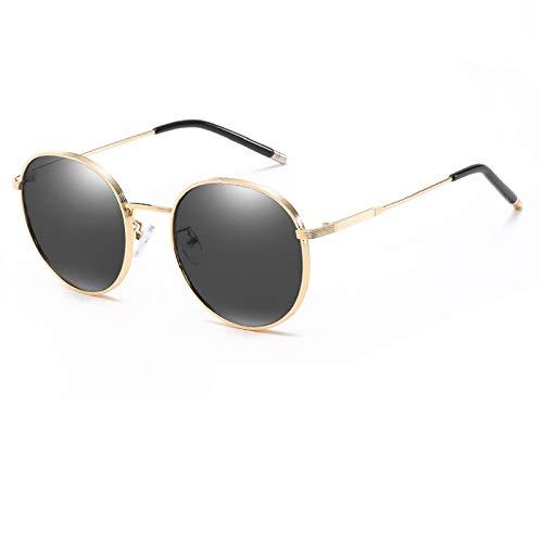 NBJSL Gafas De Sol Redondas Polarizadas De Moda Para Mujeres Y Hombres Gafas De Sol Con Protección Uv Vintage (Caja De Embalaje Exquisita)