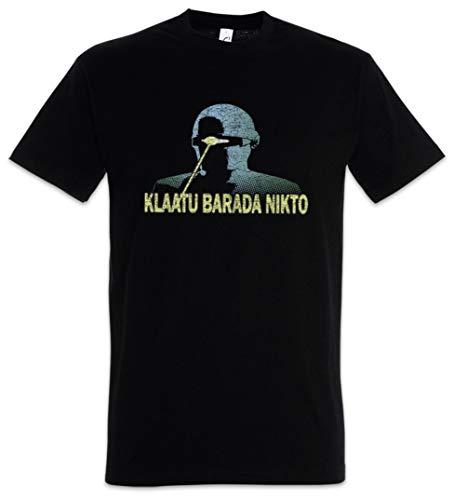 Urban Backwoods Klaatu Barada Nikto Camiseta De Hombre T-Shirt Negro Talla L