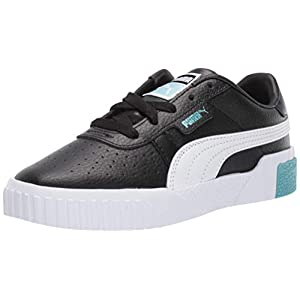 PUMA Girl's CALI Sneaker, Black-Milky Blue, 5 M US Big Kid