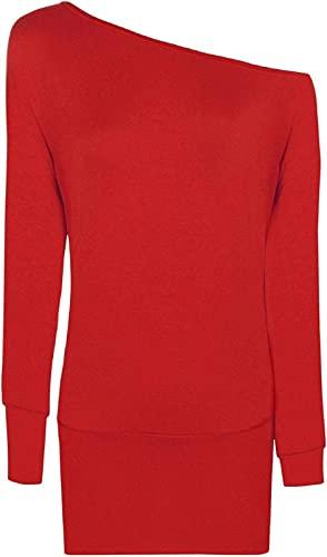 FAIRY TRENDZ LTD Camisa de manga larga para mujer, con hombros descubiertos, para fiesta