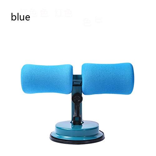 Barra de sentado multifunción, dispositivo auxiliar portátil de autosucción para sentarse, equipo de fitness ajustable para el hogar, para bajar de peso, abdominales, estiramiento, azul, L