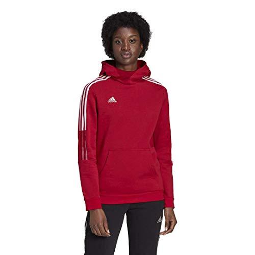 adidas womens Tiro 21 Sweat Hoodie Team Power Red XX-Small