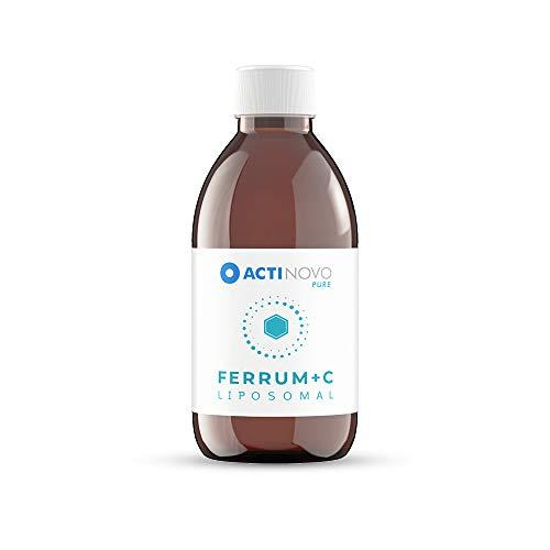 Eisen + Vitamin C liposomal   Sanddorn 250 ml PURE   hochdosiert   für dein Immunsystem   Tagesdosis 15 mg Eisen   hohe Bioverfügbarkeit   flüssig   ohne Zusätze   vegan