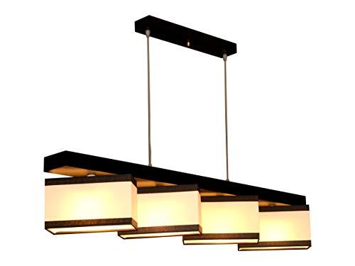 Hängelampe Hängeleuchte Milano M4H MIX Lampe Leuchte 4 flammig verschiedene Varianten (Creme-Braun Streifen)