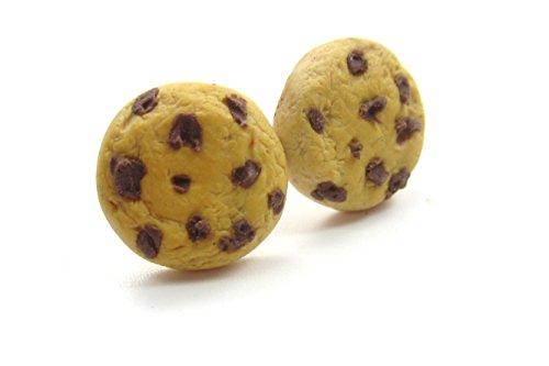 Keks mit Schokoladen Stückchen Ohrstecker witzige Plätzchen Ohrringe