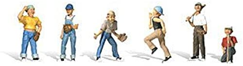 Woodland Scenics HO Scale Scenic Accents Figures People Baseball Players II (6) by Woodland Scenics