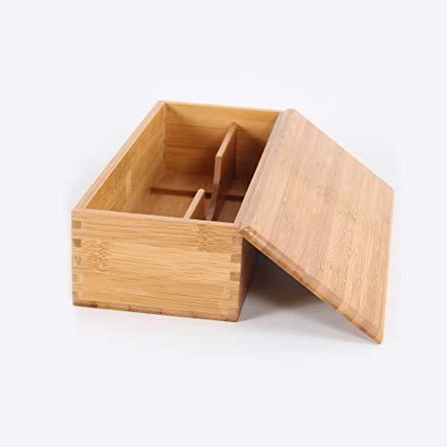 Calayu – Cubertero con tapa, caja para cubiertos, madera de bambú, para cocina, cajones, sistema de organización