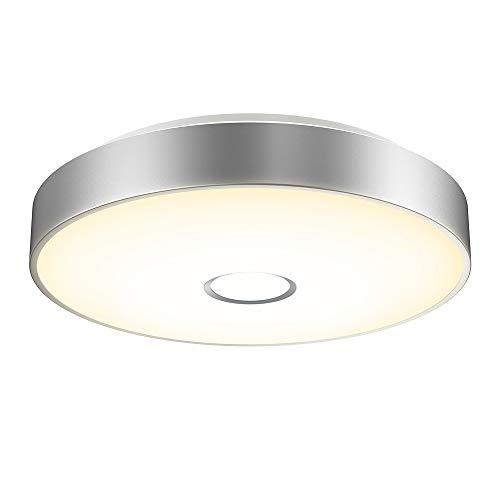 Onforu 18W Plafonnier LED Salle de Bains Imperméable Rond, IP65, IRC90+, 1600LM, 5500K Blanc Froid, Lampe de Plafond pour Chambre, Cuisine, Couloir, Entrée, Balcon