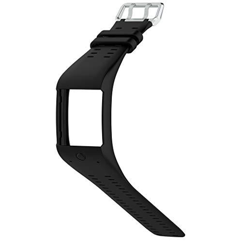 Lokeke, cinturino di ricambio per smart watch Polar M600, in silicone, colore: nero