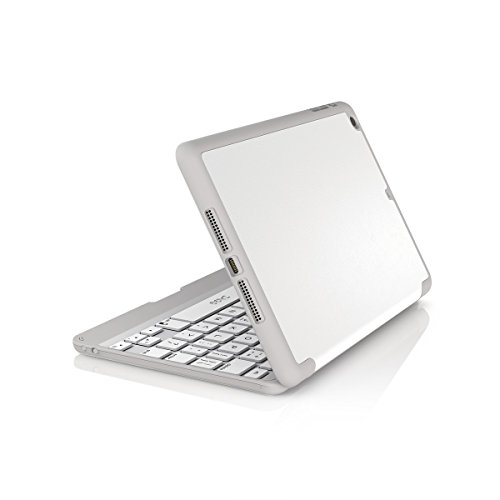 ZAGG Folio Funda con bisagras Teclado para iPad Air 2, Color Negro, iPad Mini/Mini Retina, Blanco