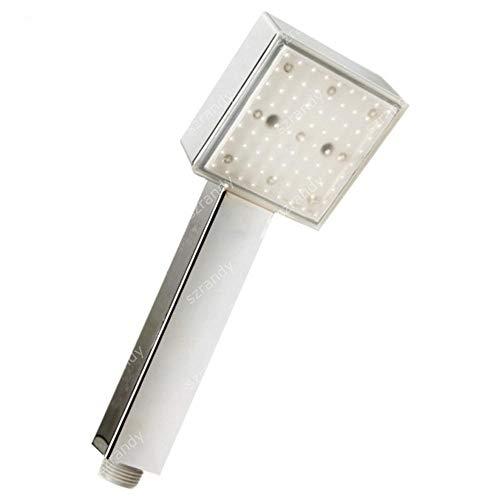 Cabeza de ducha Nueva Portátil Inicio Baño 7Color Romántica Agua De Luz LED Cuarto De Baño Glow Temperatura De La Ducha Cabeza Sensora accesorios de baño