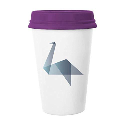 Origami - Taza de café con forma geométrica, diseño de pato abstracto
