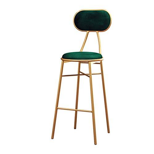 QSHG Sillas reposapiés High Green Velvet Cojín Moderno diseño con Estilo Anti-arañazos cómodo Asiento de Mesa etc -Son Duradero Anillo de Goma Regalo (Color : Gold, Size : Seat Height:65cm)