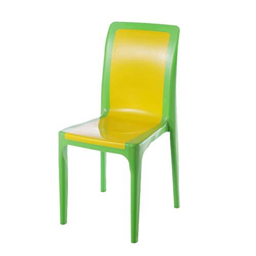 SZQ-Krukjes Vrije tijd Stoel, kaptafel de kleedkamer stoel Slaapkamer Woonkamer High Bench Plastic met rugleuning grote stoel Hoogte 88cm Kamperen Krukjes (Color : 39 * 88CM)