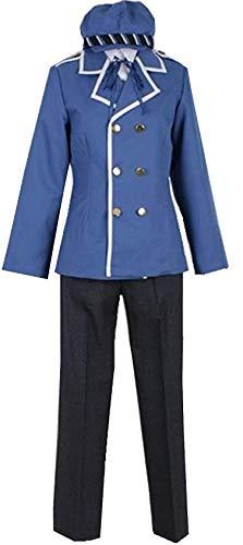 Poetic Walk Persona 4 Naoto Shirogane Cosplay Costume Uniform Custom Halloween Outfit (Mens-2XL, Blue)