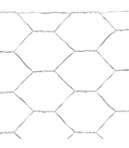 Saturnia Treillis Triple Torsion 13/50 cm Maille métallique, corréles, cages, poulailler. Rouleau de 50 mètres pour usage domestique.