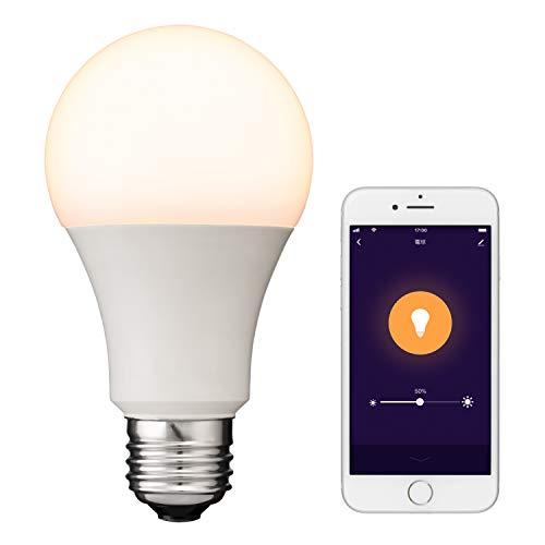【+Style ORIGINAL】スマートLED電球 E26 (調光) LED電球 電球色 60W 810lm スマート 調光 ハブ、ブリッジ不要 日本メーカー製 Amazon Alexa/Google Home 対応