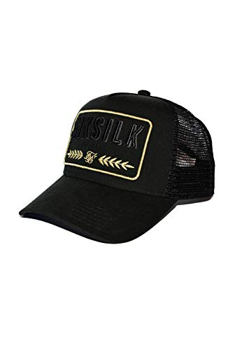 Sik Silk SS-15958 Washed Cotton Mesh Trucker Cap - Black Black