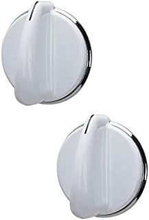 Lifetime Appliance 2 x WE01X20378 Control Knob for General Electric Dryer (White)