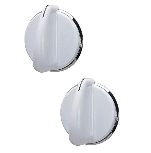 Lifetime Appliance 2 x WE01X20378 Control Knob Compatible with General Electric Dryer (White)