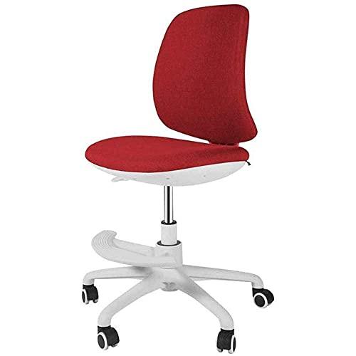 Home Office Gaming Chairs Lage rugleuning Taakstoel - Gestoffeerde computerstoel voor Bureau Bureaustoel Comfortabel om aan te raken Thuiscomputer stoellift Draaistoel Eenvoudige studiebureaustoel S