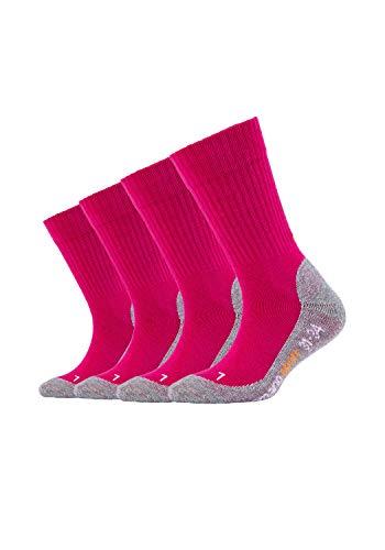 Camano Unisex-Child 9301 Socken, Pink (Fuchsia 0042), 37-39 (39/42) (4er Pack)