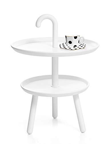 Suhu Couchtisch Klein Tisch Rund Gartentisch Kunststoff Kleiner Beistelltisch Runder Tische Outdoor Bistrotisch Mini Sofatisch Kaffeetisch Modern Dekotisch Für Wohnzimmer Balkon Und Terrasse Weiß