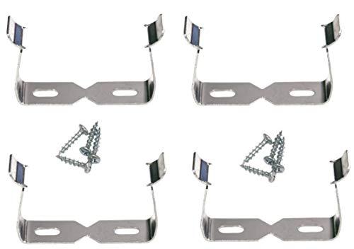 GrenFix Steckdosenleistehalterung Halter für Abzweigsteckdose Steckdosenleiste Halterung Steckdosenhalterung Mehrfachsteckdose Halterung