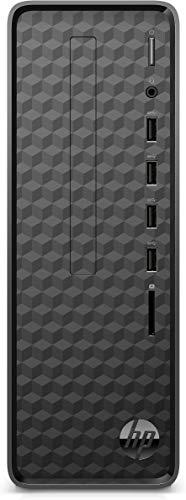 HP Slim Tower Desktop PC (AMD Athlon 3050U/4GB/1TB HDD/M.2 Slot/WiFi/Bluetooth/Wired Keyboard & Mouse/Win 10/MS Office 2019), S01-aF0111in, Black