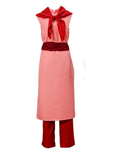 LVCOS Dragon Ball Chichi Cosplay Costume Halloween (Female XL) Pink