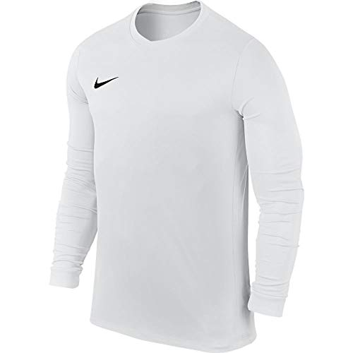Nike LS Park Vi JSY Camiseta de Manga Larga, Hombre, Blanco (White/Black),...
