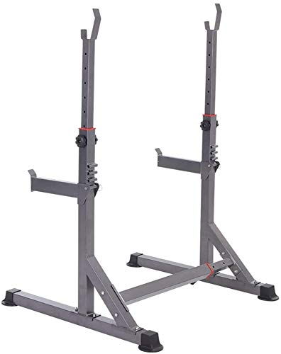 MALILI Free-Weight-Racks Squat-Racks, Multifunktions-Langhantel-Rack, verstellbares Gewichtsregal Gym Squat-Langhantel-Bar Power Stand, 13x höhenverstellbar, 6X Breite verstellbar