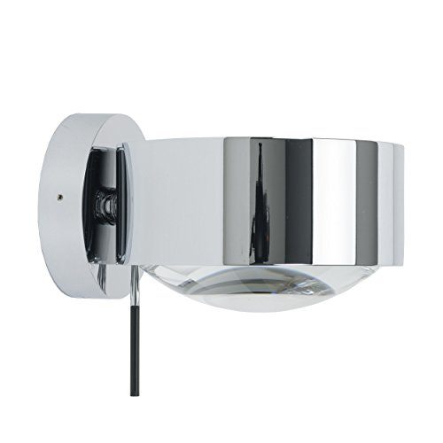 Top-Light Puk Maxx Wall Plus Wandleuchte Chrom glänzend - Leuchtenkopf Glas-Linse