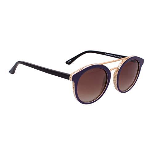 DelSol Solize Top of the World - Cambia de color de marfil a morado para unisex, lente Pro polarizada, 100% protección UVA/UVB, 1 gafas de sol
