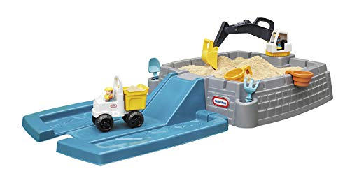 Little Tikes Dirt Diggers Excavator Sandbox for Kids, Including lid and Play Sand Accessories