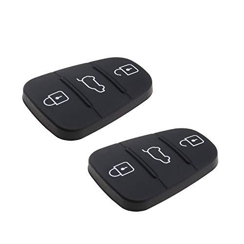2 x carcasa de llave con 3 botones y mando a distancia para llaves de coche