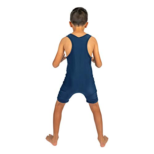 4-Time All American Wrestling Singlet for Men and Youth, Powerlifting and Exercise Equipment, MMA Wrestling Ring Gear/Apparel, Black, Navy Blue, Red (Sizes: 4XS-5XL) …